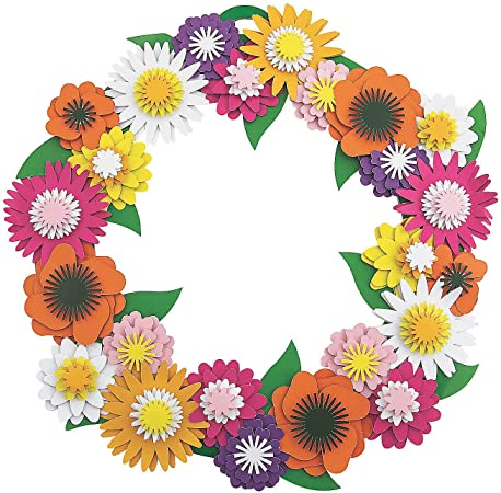 Spring Flower Wreath Craft Kit - Crafts for Kids and Fun Home Activities