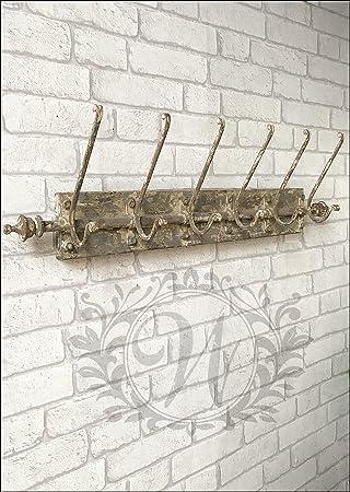 Grande Decoration Murale En Metal De Style Industriel Crochets