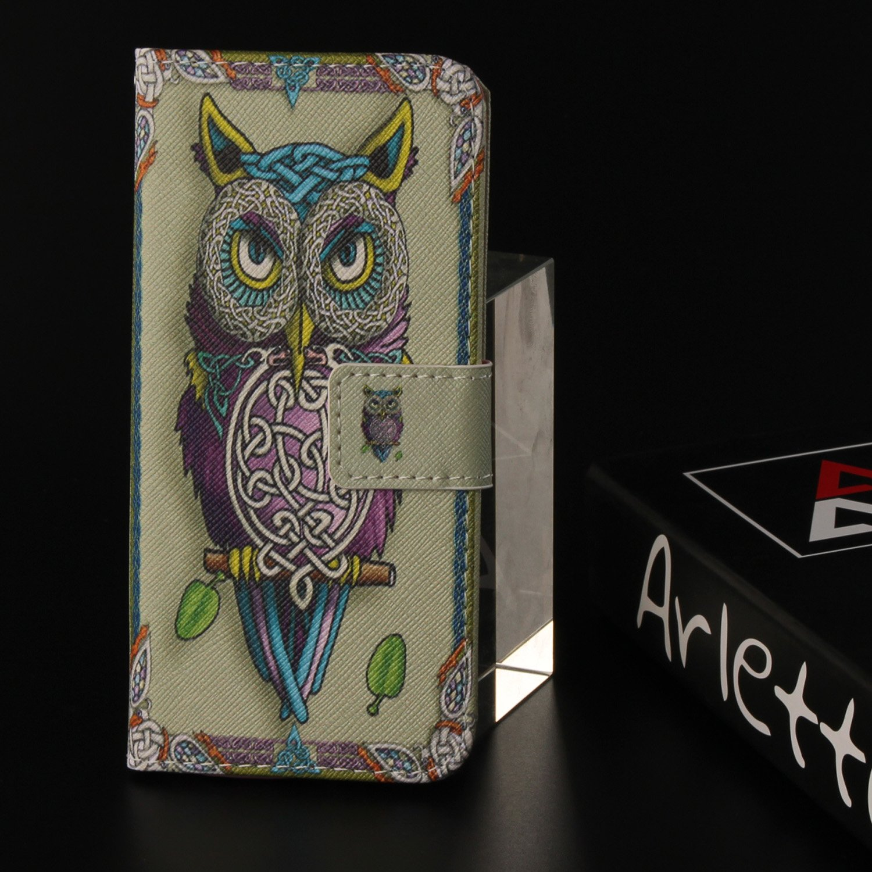 für Huawei P20 lite PU Wallet Case Schutz Hülle für - Cover Flip Tasche mit Kartenfach in Buch Stil mit Kartenfach Standfunktion Magnetverschluss und Hand Wrist(S) (1) Lohpe