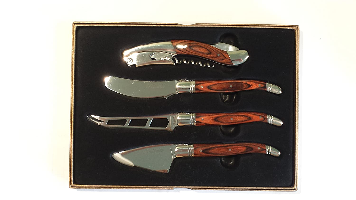 Laguiole 4-Piece Wine and Cheese Set 834505