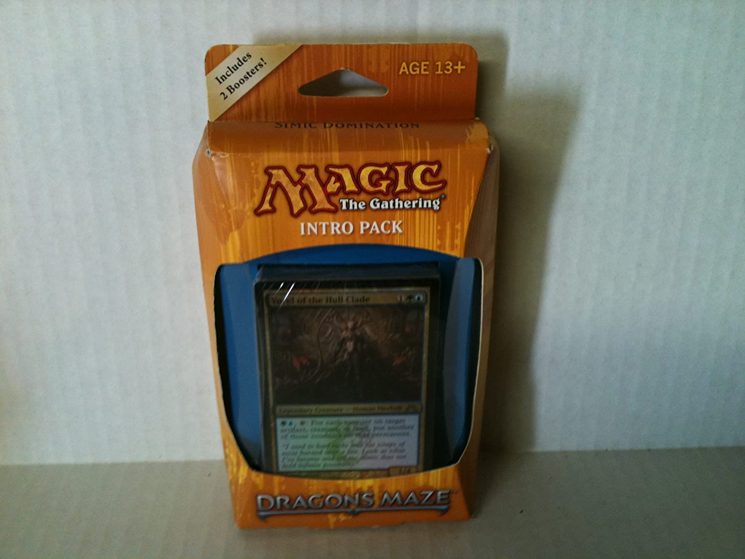 Magic the Gathering (MTG) Dragons Maze Intro Pack: Simic Domination (Includes 2 Booster Packs) Theme Deck: Amazon.es: Juguetes y juegos