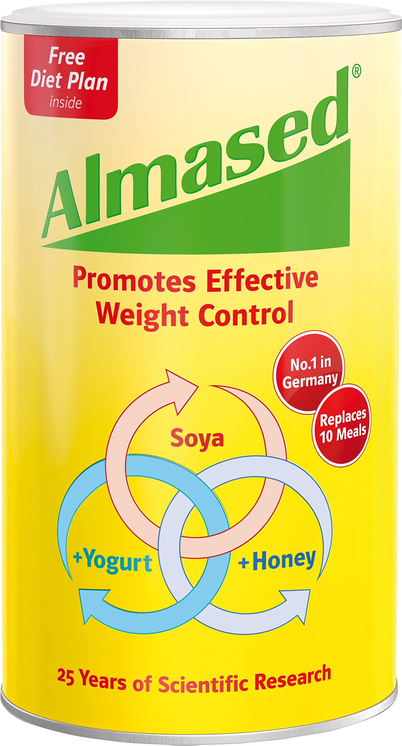 Almased® - Multi Protein Powder - Supports Weight Loss, Optimal Health and Maximum Energy, 17.6 oz