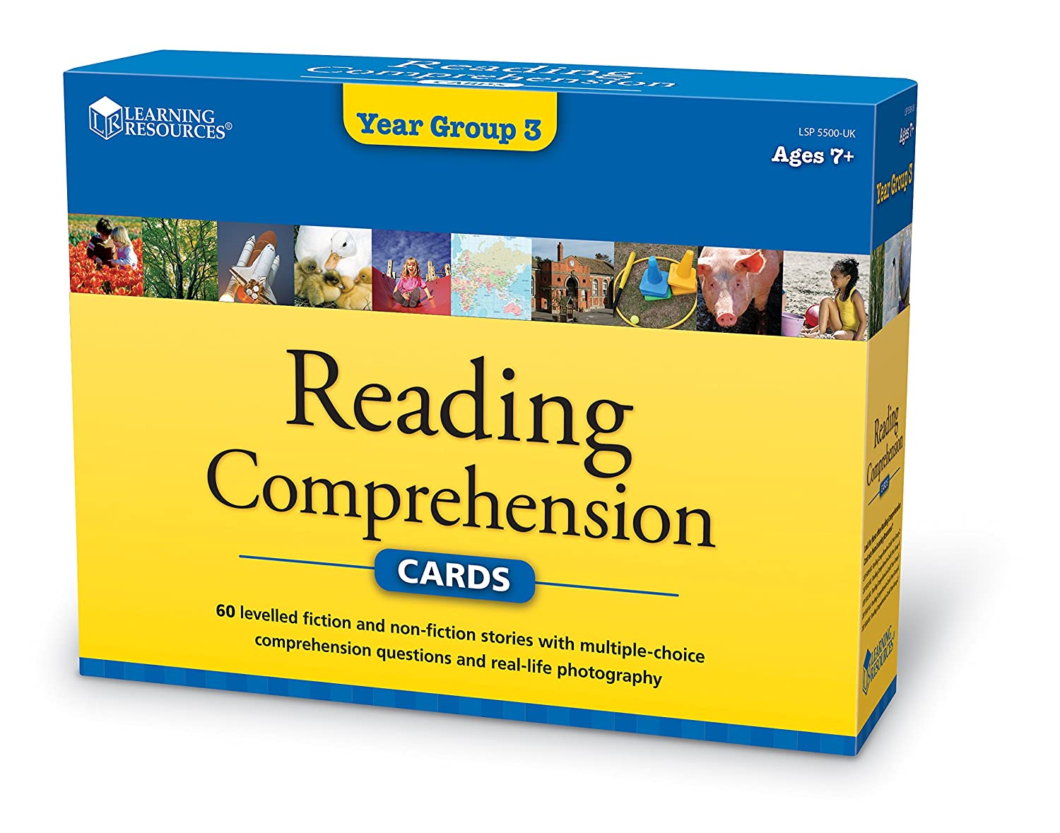 Worksheet Learning Comprehension learning resources reading comprehension cards year group 3 amazon co uk toys games