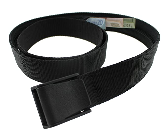 16d878319f3 Amazon.com  Titan Money Belt Made in the USA by Thomas Bates (Black)   Clothing