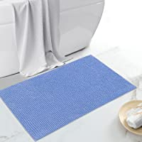 JustLINEN Luxury Chenille Bath Rug, Extra Soft and Absorbent Bathroom Mat Rugs, Machine Washable, Non-Slip Plush Carpet…
