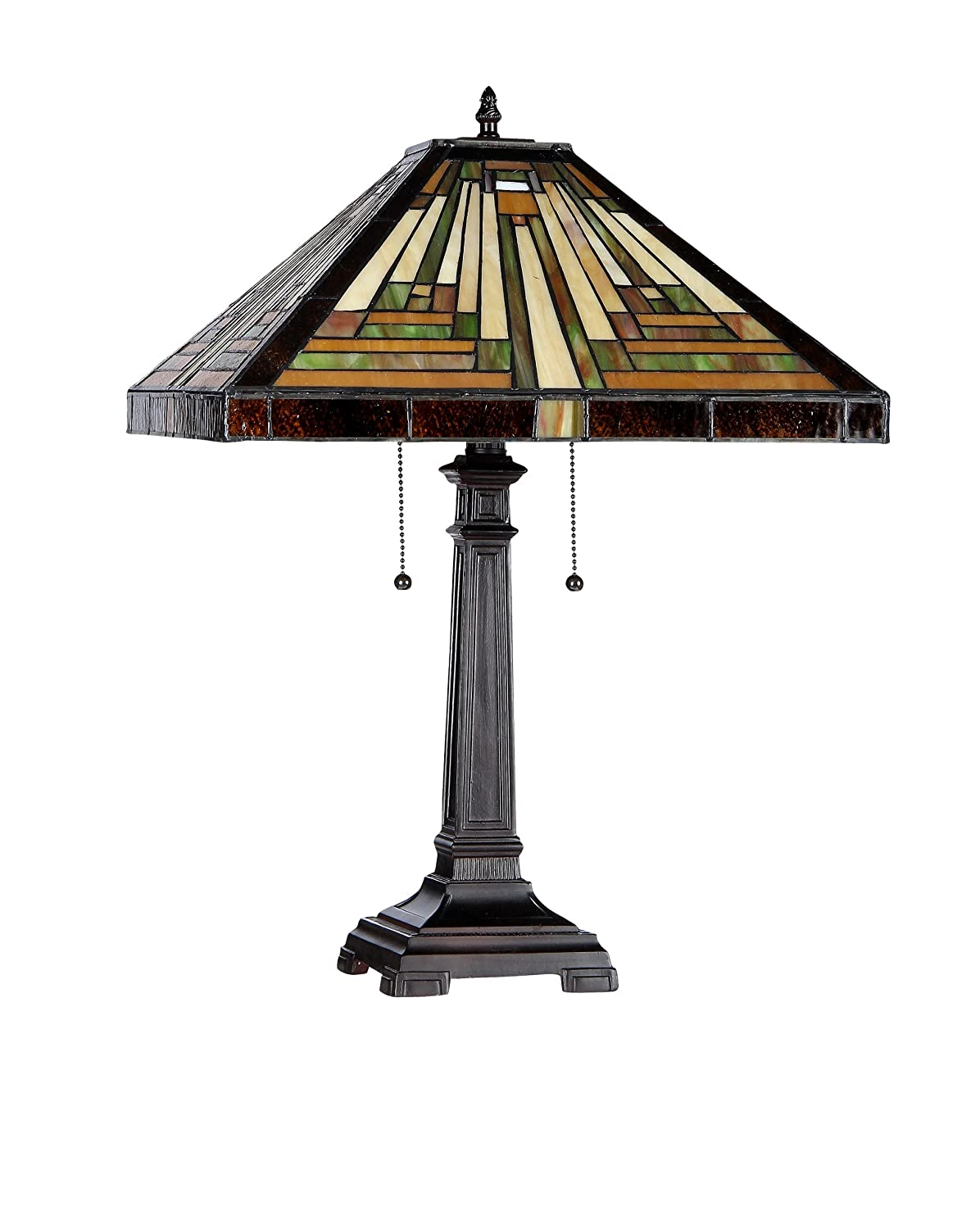 Chloe Lighting CH33359MR16 TL2 Innes Tiffany Style Mission 2 Light Table  Lamp 16 Inch Shade   Tiffany Style Table Lamps   Amazon.com