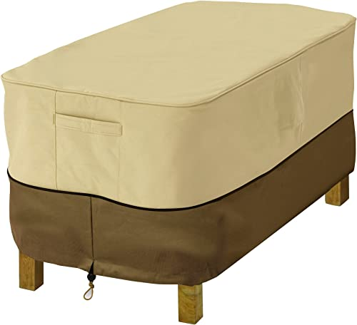 Classic Accessories 72912 Veranda Water-Resistant 38 Inch Rectangular Patio Ottoman Side Table Cover,Large