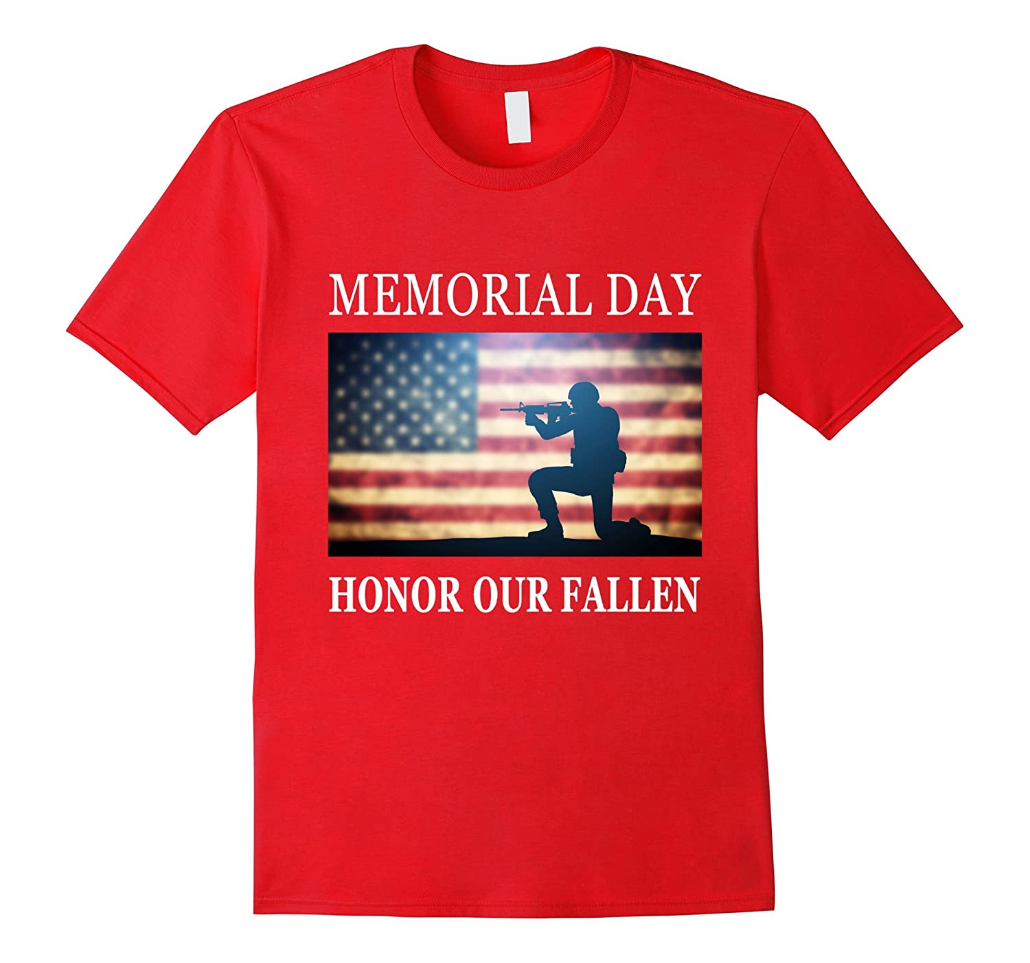 Honor Our Fallen - Silhouette Military Memorial Day T-Shirt-Art