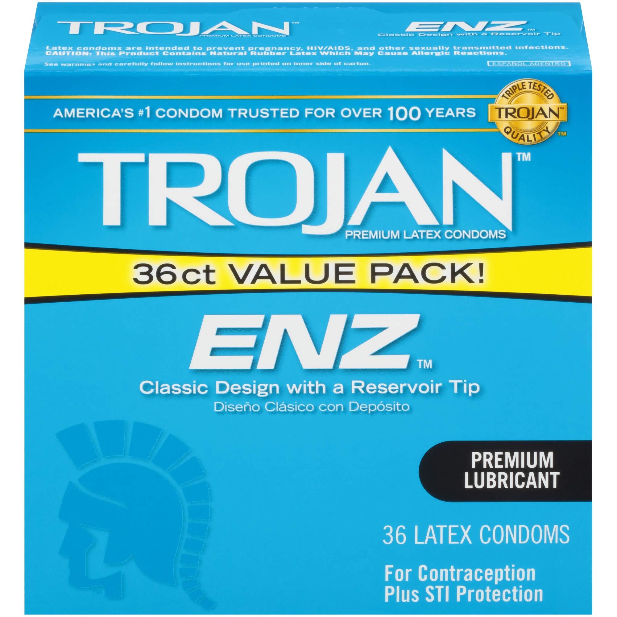 Trojan ENZ Lubricated Condoms, 36ct by TROJAN