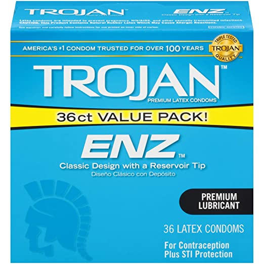 Trojan ENZ Lubricated premium quality latex  Condoms 36ct