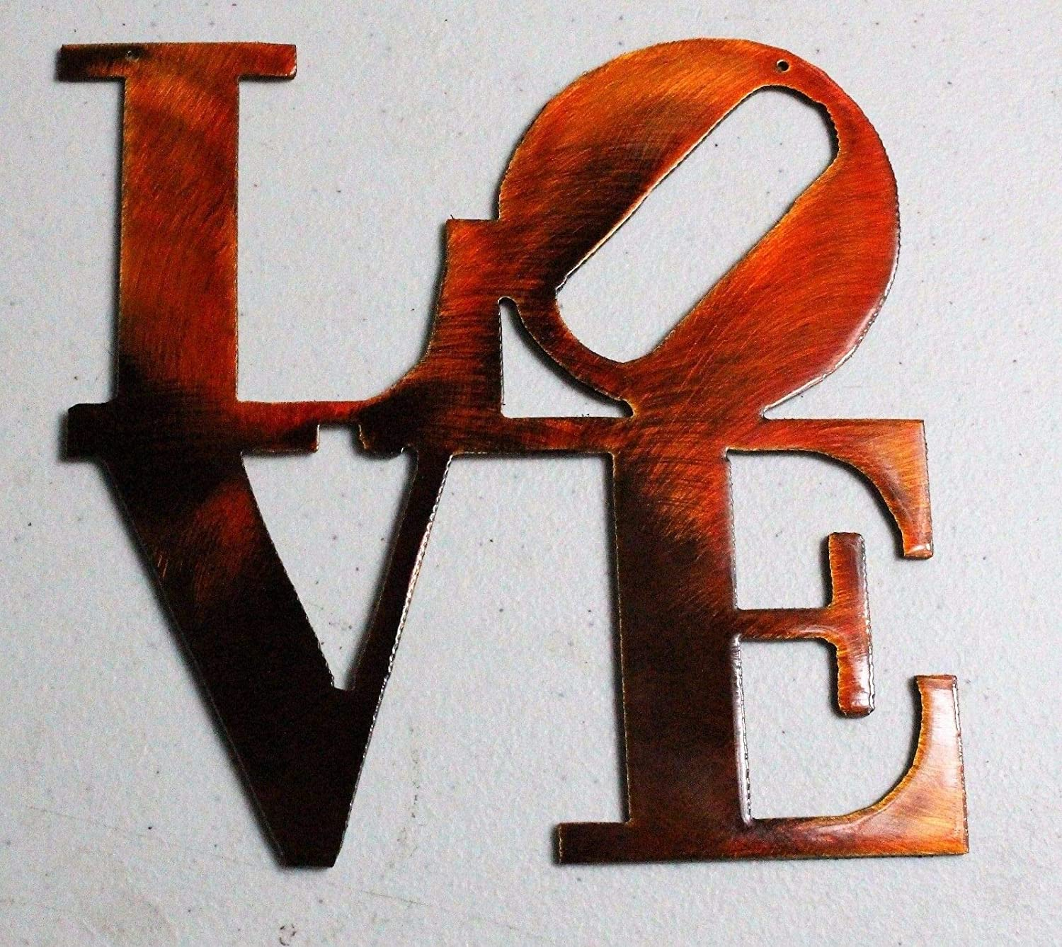 Love Boxed Metal Wall Art Accent 6 or 12