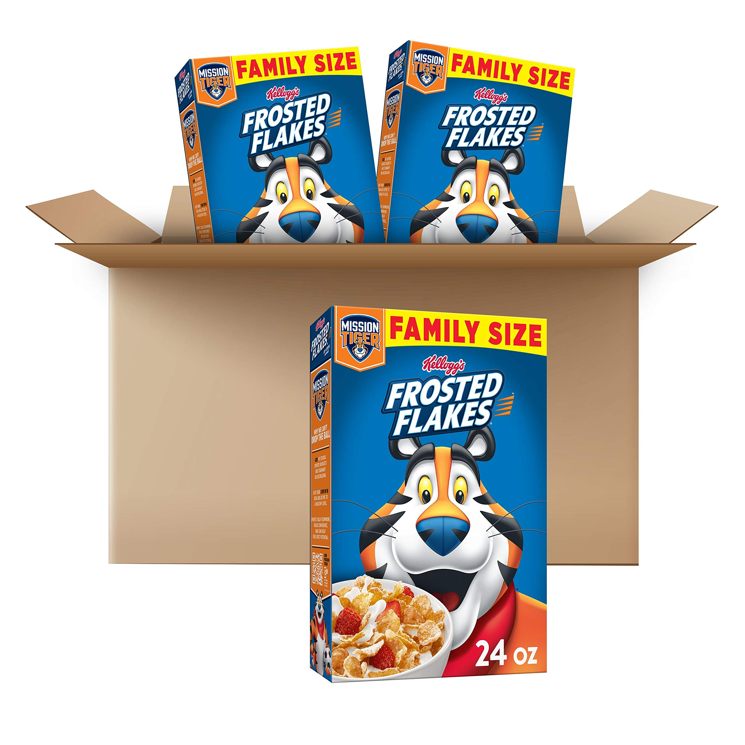 Frosted Flakes Breakfast Cereal, Original, Excellent Source of 7 Vitamins & Minerals, Family Size