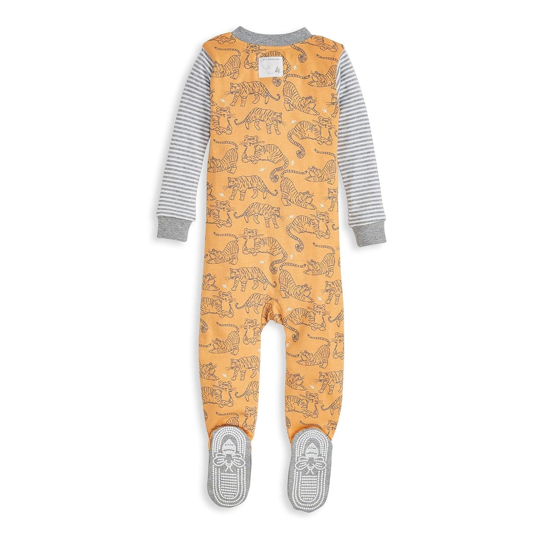 Burts Bees Baby Baby Boys Unisex Pajamas Organic Cotton Zip-Front Non-Slip Footed Sleeper Pjs
