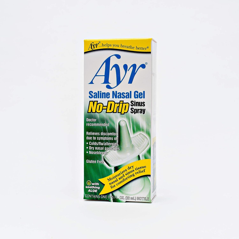 Ayr Saline Nasal Gel No-drip Sinus Spray With Soothing Aloe ...