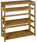 Amazon Com Yu Shan 3 Shelf Folding Stackable Bookcase Natural Health Amp Personal Care