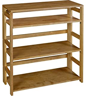 regency flip flop 34 inch high folding bookcase medium oak - Folding Bookshelves