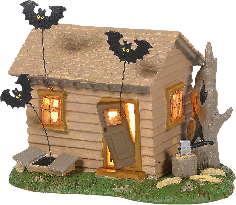 Department 56 Peanuts Village Halloween Haunted House Lit Building, 5.5 Inch, Multicolor