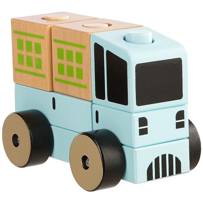 Ultrakidz - Camión de Madera Natural, 6 Piezas (331900000091)