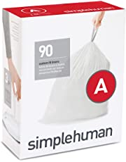 simplehuman Code A Custom Fit Drawstring Trash Bags, 4.5 liters / 1.2 gallons, (90 Count)
