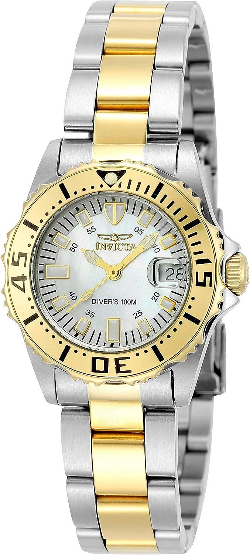 Invicta 6895 Pro Diver Reloj para Mujer acero inoxidable Cuarzo Esfera blanco