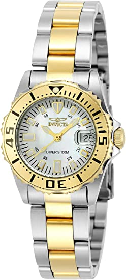 Invicta Women's Pro Diver 30mm Two Tone Stainless Steel Quartz Watch, Two Tone (Model: 6895)