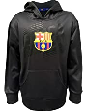 HKY Sportswear Official FC Barcelona Junior Boys Long Sleeve, Pull Over Hoodie