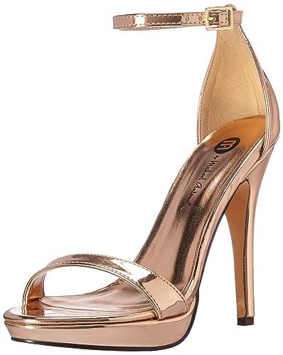 d796829d6bf5f1 Michael Antonio Women s Lovina-MET Heeled Sandal Rosegold 10 ...