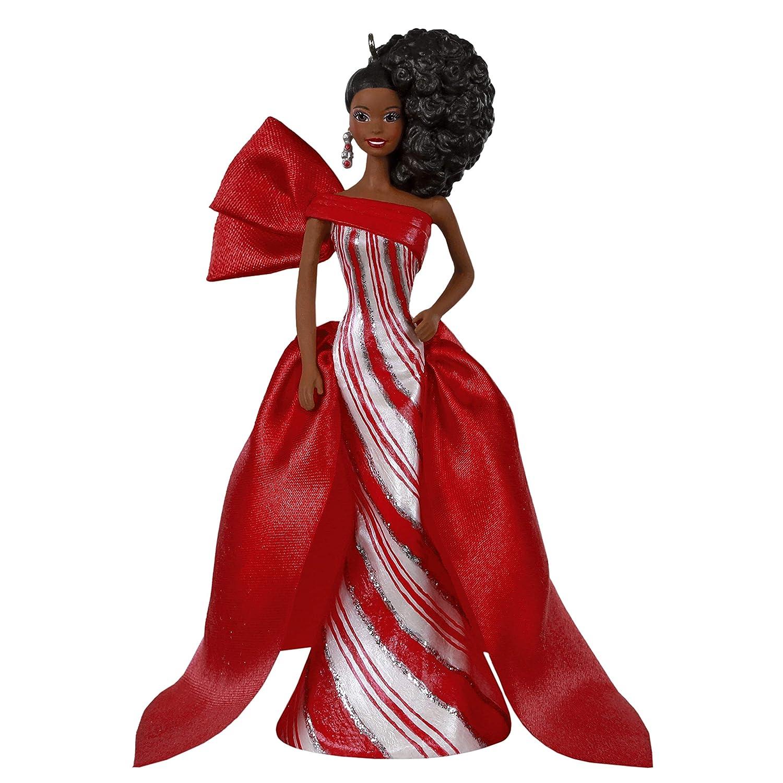Hallmark Keepsake Christmas 2019 Year Dated African-American Holiday Barbie Doll Ornament