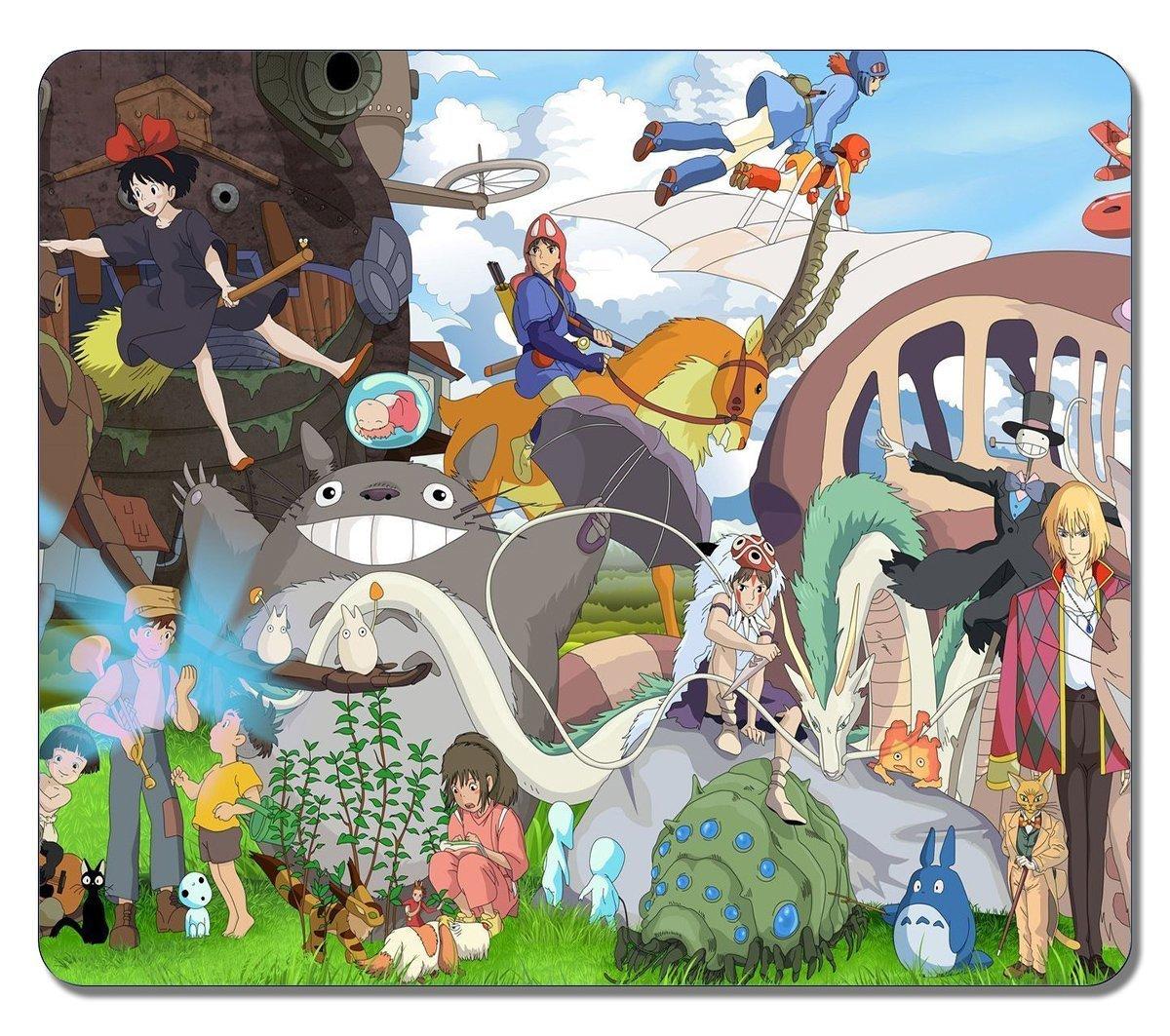 Di alta qualità , misura grande, motivo: personaggi e Studio Ghibli 36913-Tappetino per il Mouse in gomma, Non scivoloso, per Mouse da Gaming NUNIMA