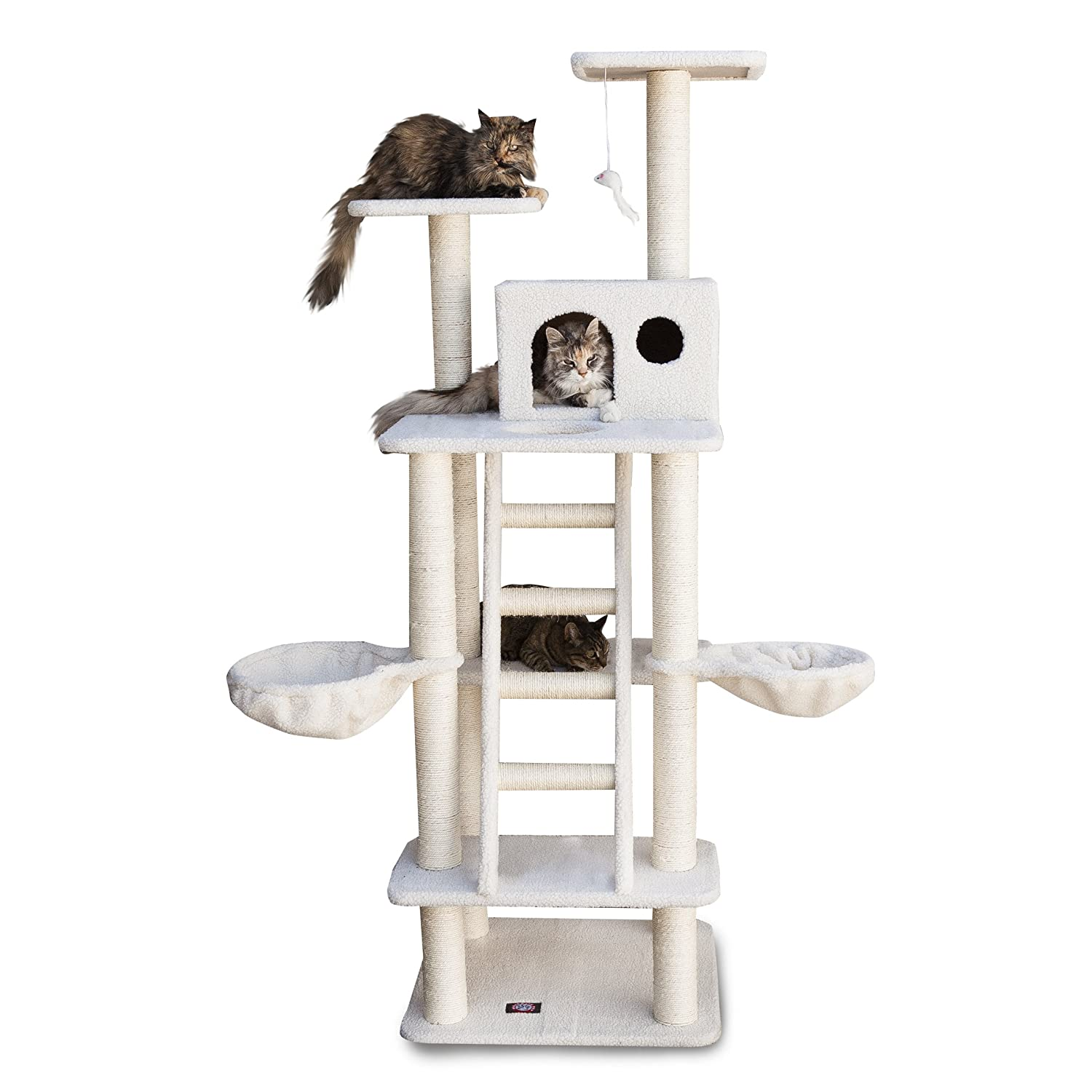 Amazon.com : Majestic Pet Products 72 inch Cream Bungalow Cat ...