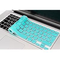 Lenfech Cubre Teclado para MacBook 2012 - 2015 Pro 13 y 15, Air 13/ Retina 15 y Mac Book 2010 - 2017 Air 13. Protector de Teclado en Español de Silicón / Silicona. Protege de Líquidos, Suciedad, Comida y Polvo! Disponible en 13 Colores. (Azul Turquesa)