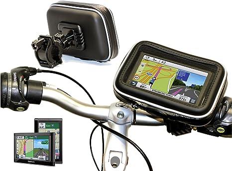M UK /& Ireland Start 25 M Western Europe Navitech Supporto e Custodia Impermeabile da Bicicletta//Moto per Tomtom Via 135 M Europe