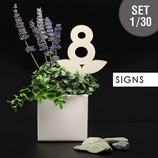 3DP Signs - Set Números de Mesa para floreros [VN01] - Design ...