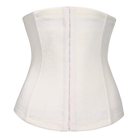 cccbbb6ef98 Ekouaer Women s Sexy Beauty Floral Lace Bridal Bustier Top Skiny Body Wear  Plus Size(White