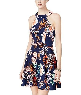 2fca9c77b Amazon.com: B Darlin Juniors' Strappy-Back Fit & Flare Dress: Clothing