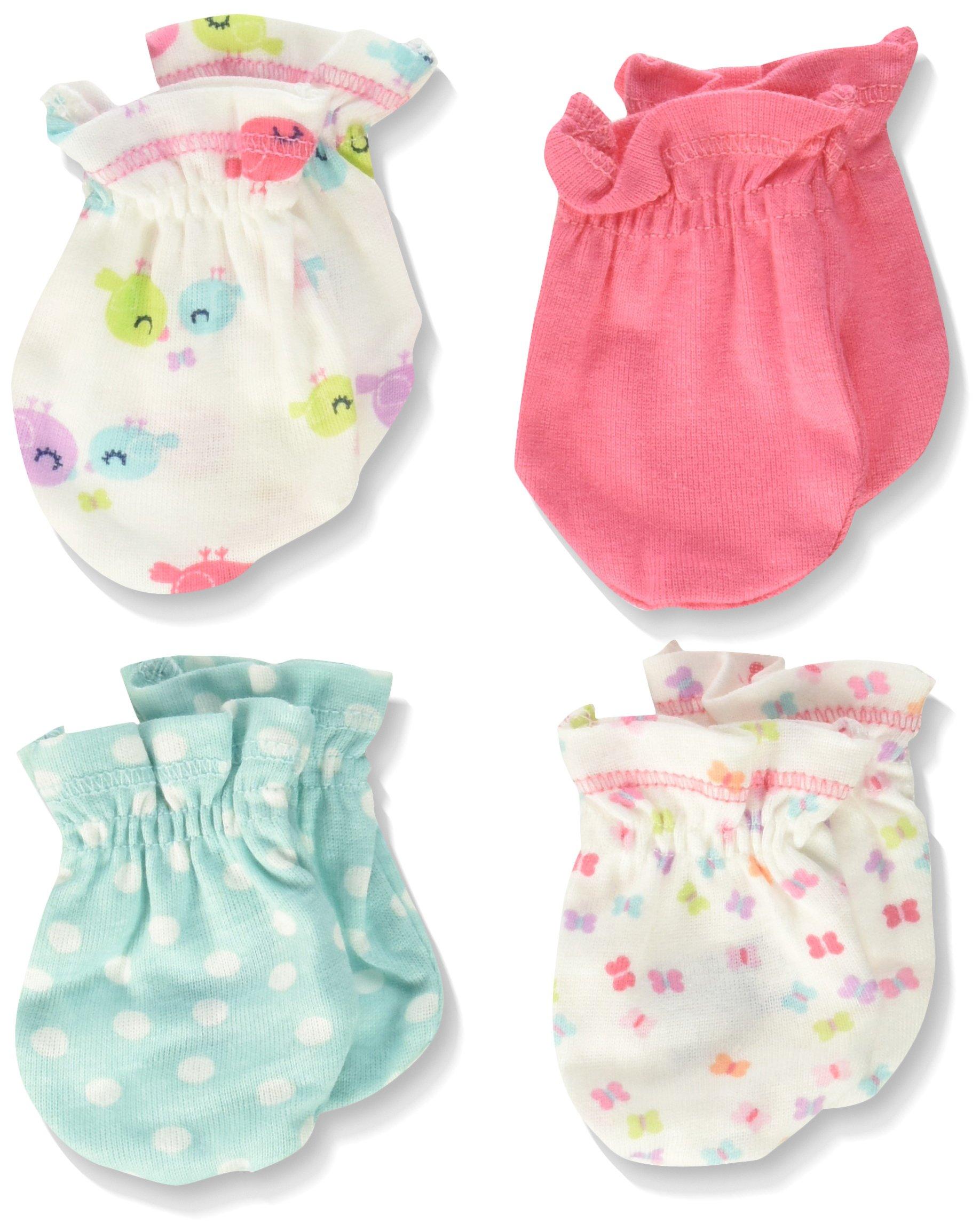 Gerber Baby Girls' 4 Pack Mittens