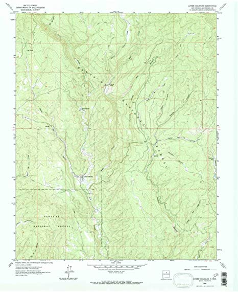 YellowMaps Lower Colonias NM topo map, 1:24000 Scale, 7.5 X 7.5 Minute