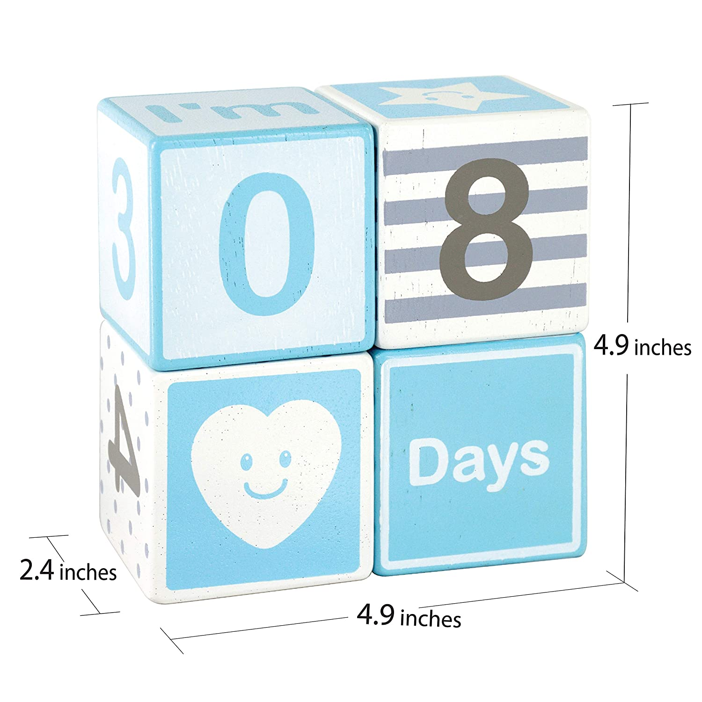 Amazon.com: I\'M Solid Wood Baby Milestone (Day Month & Week) Large ...
