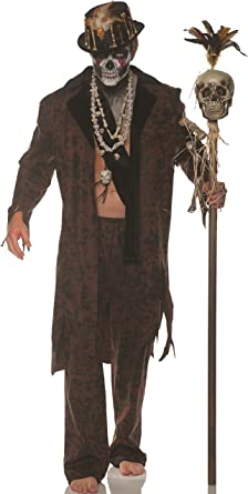 Voodoo Man Witch Doctor Halloween Fancy Dress Mens Ladies Magic Hat Accessory