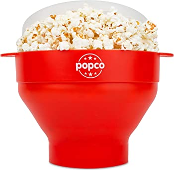 The Original Popco Microwave Popcorn Popper with Lid