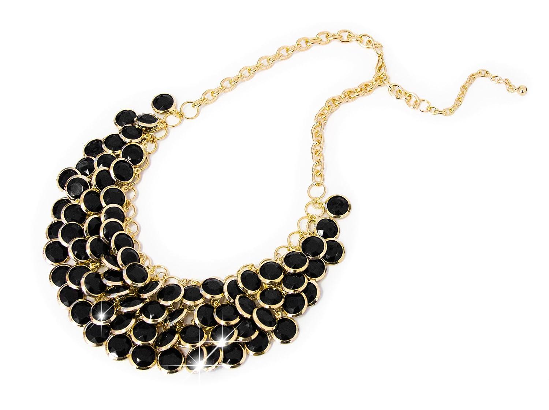 Modeschmuck kette schwarz  Damen Halskette Modeschmuck Accessoire Schmuck Statement Kette ...
