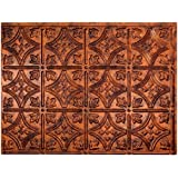 "Fasade Easy Installation Traditional 1 Moonstone Copper Backsplash Panel for Kitchen and Bathrooms (18"" x 24"" Panel)"