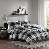 Madison Park Essentials Plaid Sets 3M Scotchgard Moister Wicking - Ultra Soft Down Alternative Microfiber Bed Comforters…