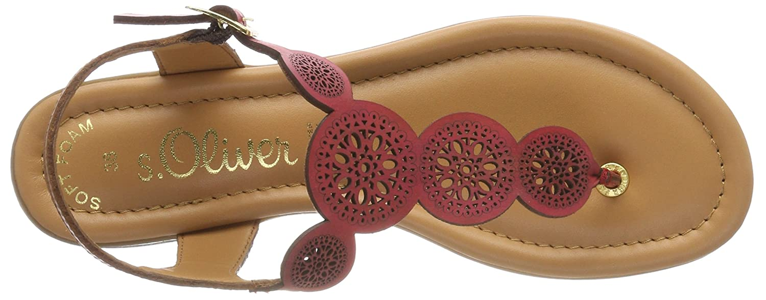 S.Oliver (Bright Damen 28102 Zehentrenner Rot (Bright S.Oliver ROT) 891351