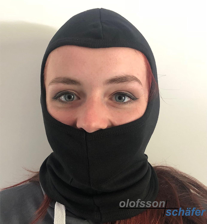 Sturmhaube, Maske, schwarz, Motorrad, Quad, Kart, Ski, Snowboard, Paintball Olofsson-Schäfer OS-500623