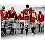 Manchester United Legends Print Canvas 001 (30x20 inches)