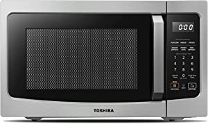 Toshiba Smart Countertop Microwave Oven Works with Alexa, Humidity Sensor and Sound on/off Function, 1.3 Cu.ft, 1100W, ML-EM34P(SS), Stainless Steel