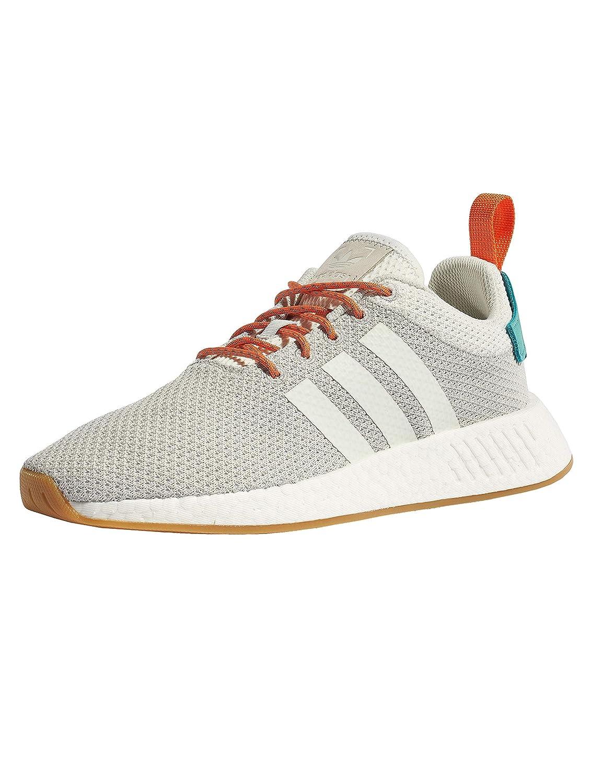 TALLA 40.5 EU. Adidas Originals NMD R2 Summer, Crystal White-Grey One-Gum, 13,5