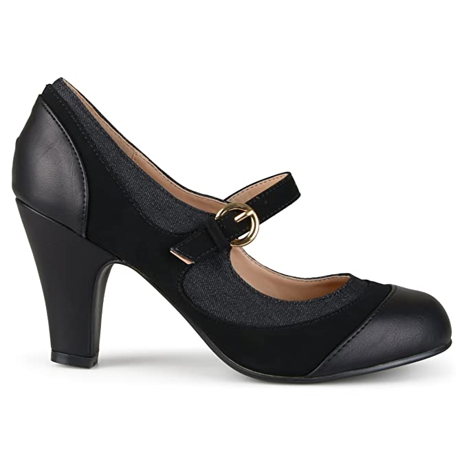 Vintage Style Shoes, Vintage Inspired Shoes Brinley Co Womens Sonja Pump $39.99 AT vintagedancer.com