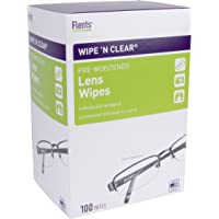 (1 Pack) - Flents Wipe 'n Clear Pre Moistened Lens Wipes, 100 Ct